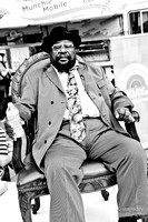george clinton + free food finds at SXSWi